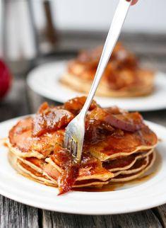 Caramel Apple Pancakes @FoodBlogs