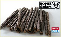 US-grown grass-fed venison sausages! The dogs will LOVE these affordable treats. Bully Sticks, Dog Chews, Venison, Sausages, Dog Owners, Dog Love, Your Dog, Pup, Treats