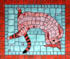 Gallery of stained glass mosaic cats by Santa Barbara, CA artist Christine Brallier. Mosaic Art, Mosaic Glass, Mosaic Tiles, Stained Glass, Mosaic Animals, Small Cat, Mosaic Projects, Cat Tattoo, Art Decor
