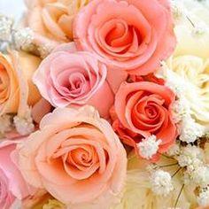 Un fleuriste de qualité à Hérouville-Saint-Clair. Pink Rose Bouquet, Pink Roses, Sainte Claire, David Austin, Message Card, Flower Fashion, Wedding Flowers, Peach, Floral