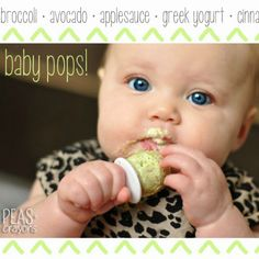 These easy baby pops are perfect for small hands and tiny tummies! Loaded with fruit, veggies, and yogurt, they're sure to make meal time fun and delicious!