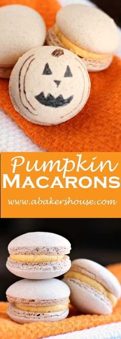 Pumpkin Macarons are a seasonal twist on standard macarons and well worth your time. Pumpkin pie spice adds flavor to the shells and pumpkin butter elevates the filling. Made by Holly Baker at www.abakershouse.com