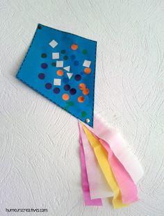 Volez, volez, cerfs volants ! - Mes humeurs créatives Diy Paper, Paper Crafts, St Pats, Draco, Paper Plates, Origami, Clip Art, Animation, Kids