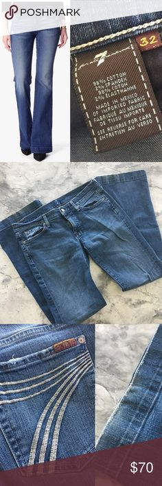 7 for all Mankind- Dojo Jeans Premium denim, wide leg trouser. Dojo style. Good condition, non smoking home. 7 For All Mankind Jeans Flare & Wide Leg