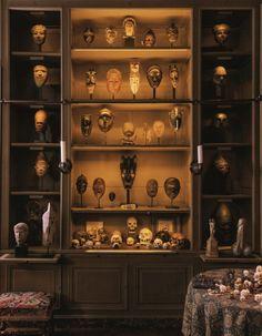 ÌMỌ̀ DÁRA African Interior Design, Home Interior Design, African Masks, African Art, Cultural Crafts, Cabinet Of Curiosities, Art Africain, Wild Style, Altars