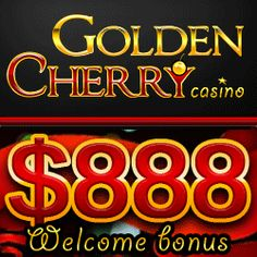 Golden Cherry Casino welcomes online players with a juicy $888 100% match bonus!