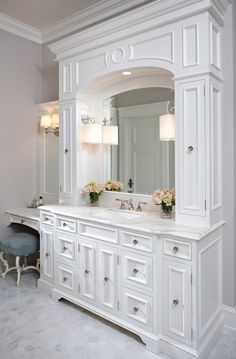 love the white bathroom the make up counter to the side master bathroom traditional bathroom images by hendel homes