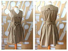 Wrap dress Full skirt dress Trench coat Designer coat Cotton coat Edwardian coat Victorian coat Military coat Cotton dress Trench dress Boho