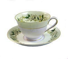 Vintage Bone China Teacups and Saucers Noritake by PlumsandHoney