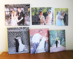 Wedding Custom Canvas Print with Lyrics, First Dance, Wedding Songs, Vows...Add any Words to your Canvas. Unique Custom Wall Decor. on Etsy, $42.75 CAD