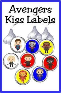 Save the day with these super kiss labels featuring your favorite heroes. Enjoy a sweet treat at your Avengers party or while enjoying movie night. This printable Avengers Kiss lables are the perfect addition to any super hero party. Printable Labels, Party Printables, Diy Party, Party Shop, Circle Punch, Hershey Kisses, Party Treats, Superhero Party, Activities To Do