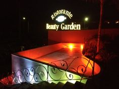 Beauty Garden Banqueting, cascate d'acqua