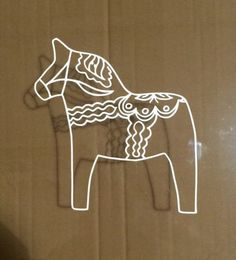 Swedish Dala Horse - Scandinavian, Vinyl (2) Stickers Car Decal in Collectibles,Transportation,Automobilia | eBay