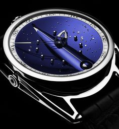 "De Bethune DB28 Skybridge Watch Hands-On ~ "" the dial, also based in blued and polished titanium, which mimics a view of the night sky and is garnished with a selection of polished titanium balls (acting as mid-dial hour markers) and diamonds"""