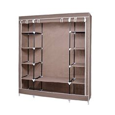 Fabric Wardrobe Bedroom Furniture Closet Storage Cupboard Hanging Clothes Shelf -- You can get additional details at the image link. (Note:Amazon affiliate link)