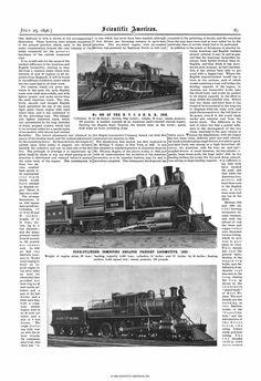Scientific American Volume 75 Number 04 (July 1... Scientific American, July 1, Locomotive, Number, Locs