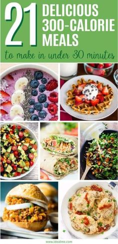 meals you can make in under 30 minutes - we've found 21 quick, healthy and tasty meals that won't sabotage your waistline. meals you can make in under 30 minutes - we've found 21 quick, healthy and tasty meals that won't sabotage your waistline. 1200 Calorie Meal Plan, Low Calorie Dinners, No Calorie Foods, Low Calorie Recipes, 300 Calorie Dinner, Under 200 Calorie Meals, 300 Calorie Breakfast, Low Calorie Lunches, Dinner Under 300 Calories