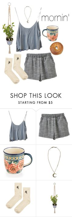 """As spoken"" by natspolyy on Polyvore featuring Brandy Melville, Polish Pottery, Alkemie and Topshop"