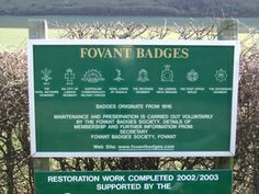 Fovant Badges, Wiltshire (WM392)  These unusual war memorials are carved into hillsides. The Fovant badges are replicas of cap badges that w...