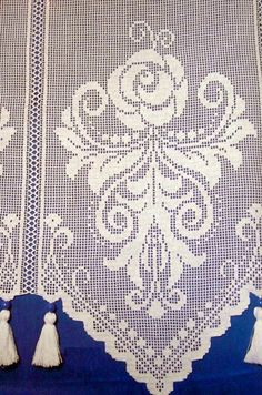 just picture but it is clear enough to chart from if you want to take the time Crochet Lace Edging, Crochet Borders, Crochet Art, Crochet Home, Crochet Crafts, Crochet Doilies, Crochet Projects, Cross Stitch Bookmarks, Crochet Bookmarks