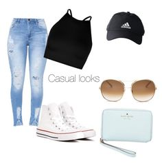 """""""Casual days"""" by evasfakakis on Polyvore featuring Converse, Boohoo, adidas, Chloé and Kate Spade"""
