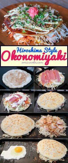 "Okonomiyaki (お好み焼き) is a savoury Japanese pancake that is an instant favourite with anyone who eats it. It consists mainly of batter, lots and lots of shredded cabbage, and a multitude of additional ingredients which suits its name perfectly – ""grilled as you like it""."