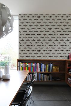 Fishes in Geometrics ~ Pattern Wall Tiles