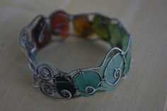 Such cool way to wear your sea glass finds...