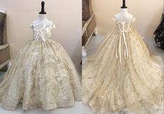 5a89e9efed5 Blingbling Gold 2019 Flower Girls Dresses For Wedding Party Off the shoulder  Sequins Ball Gown Long Corset Cheap First Communion Dress
