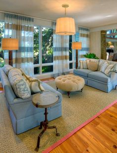 Beautiful Horizontal Striped Sheers. House of Turquoise: Mary-Bryan Peyer Designs