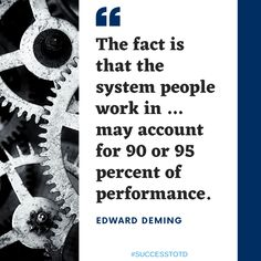 """""""Are you working in the system or on the system?"""" That was one of the best questions a team member asked me several years ago. There is a difference between the individual, in the moment efforts, and operating systems. Team Member, A Team, Thought Of The Day, Motivational Quotes, Success, Facts, In This Moment, Thoughts, This Or That Questions"""