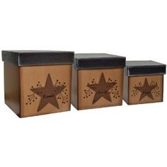 Rustic Stars and Berries nesting boxes
