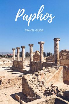What to do in Paphos, Cyprus. This coastal city is a popular holiday destination but there's more to do than just lazing at your resort! See all the sights and get more travel tips in this guide. Popular Holiday Destinations, Europe Destinations, Europe Travel Tips, Travel Guides, Travel Plan, Travel Advice, Ayia Napa, Stuff To Do, Things To Do