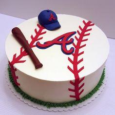 Atlanta Braves Cake by www.freshbakedva.com Roanoke VA Cakes, Salem VA Cakes, Sports Grooms Cake