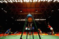 Chris and Gabby Adcock of Great Britain or Team GB compete against Ma Jin and Xu Chen of China in the badminton Mixed Doubles. 59 | Best Photos From The Rio Olympics
