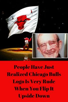 People Have Just Realized Chicago Bull& Logo Is Very Rude When You Flip It Upside Down