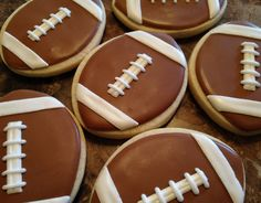 SweetTweets - Football Cookies - 12 Cookies. $36.00, via Etsy.