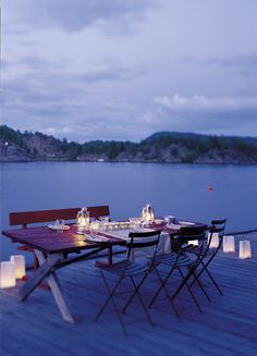 Dinner outdoors - what is better than this?