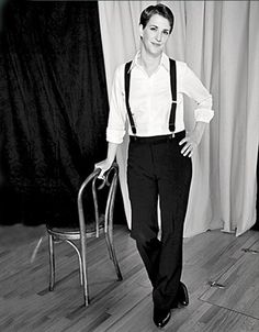 Suspenders on Rachel Maddow - I don't know if I want to be her, or, well, you know ;-)
