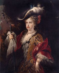 Mª Luisa Gabriela de Saboya, Reina de España. por Miguel J. Meléndez. 1712.