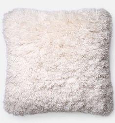 Furry Shag Pillow - Ivory