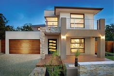 Many people would want to live in their own house. With that being said, not everyone could afford to buy their own house. For those of you who don't have a high income, you can try to rent a house. Double Storey House Plans, Double Story House, Two Story House Design, Best Modern House Design, Contemporary House Plans, House Front Design, Small House Design, Style At Home, Bungalow Haus Design