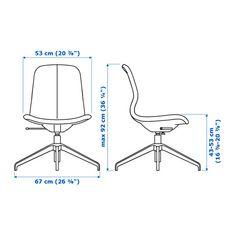 LÅNGFJÄLL Krzesło obrotowe - Gunnared бежевый, белый - IKEA