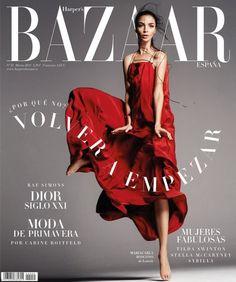 Portada Marzo 2015 de Harper's Bazaar España con Mariacarla Boscono.