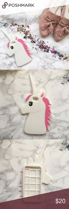 iPhone 6/6s Unicorn case  New!! Super cute unicorn care for iPhones 6/6s. Silicon case. No trades. Accessories Phone Cases