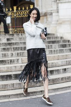 Paris Fashionweek day 6 outside Stella McCartney, Eva Chen