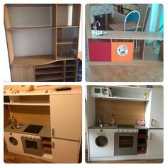 Eine Kinderküche selber bauen. Aus einem Kren Fernseherregal