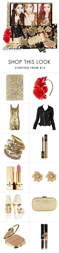 """""""Twinkle!!!"""" by shinee-pearly ❤ liked on Polyvore featuring Anya Hindmarch, Johnny Loves Rosie, Moschino, Dorothy Perkins, Yves Saint Laurent, Pilgrim, Dolce&Gabbana, Topshop and Kilian"""
