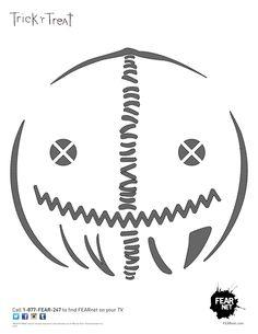 Fearnet's Trick 'r Treat Sam Pumpkin Stencil