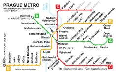 Prague Metro Map with Distances between Stations by Adam Sporka, via Flickr